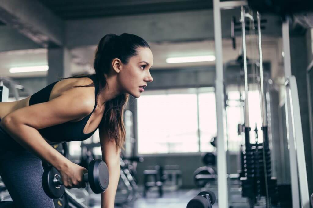 woman workout in fitness